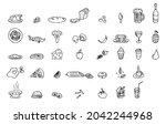 food and drink doodle sketch...   Shutterstock .eps vector #2042244968