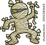 funny and scary angry mummy in... | Shutterstock .eps vector #2042283665
