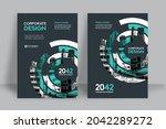 corporate book cover design... | Shutterstock .eps vector #2042289272