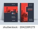corporate book cover design... | Shutterstock .eps vector #2042289275