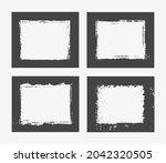 grunge frames. abstract vector... | Shutterstock .eps vector #2042320505