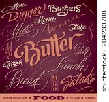 food menu headlines set of 16... | Shutterstock .eps vector #204233788