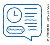 deadline of audit sketch icon... | Shutterstock .eps vector #2042387228
