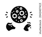 flu domestic animal glyph icon...   Shutterstock .eps vector #2042407415