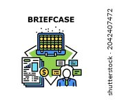 briefcase bag vector icon... | Shutterstock .eps vector #2042407472