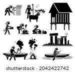 prehistory prehistoric... | Shutterstock .eps vector #2042422742