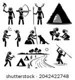 prehistory prehistoric... | Shutterstock .eps vector #2042422748