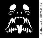 the skeleton of the monster....   Shutterstock .eps vector #2042444105