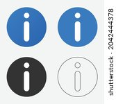 information icon or info symbol ...