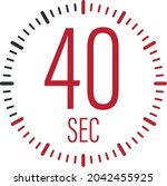 the 40 second  timer  stopwatch ...   Shutterstock .eps vector #2042455925