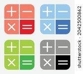calculator icon or symbol set...