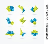 abstract icons. geometric... | Shutterstock .eps vector #204252136