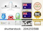 vector traveling and transport... | Shutterstock .eps vector #204253588