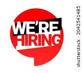 we're hiring. an ad for an... | Shutterstock .eps vector #2042541485