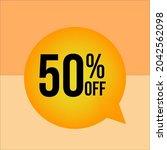 50  percent orange off fifty   Shutterstock .eps vector #2042562098