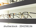 Glasses In An Optical Shop