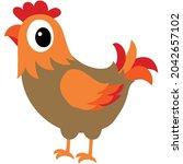 vector chicken poultry clip art ...   Shutterstock .eps vector #2042657102