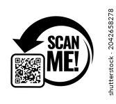 scan me icon. symbol or emblem. ... | Shutterstock .eps vector #2042658278