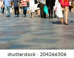pedestrian area in the city... | Shutterstock . vector #204266506