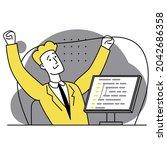concept of script coding ...   Shutterstock .eps vector #2042686358