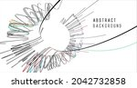 abstract graphics composed of...   Shutterstock .eps vector #2042732858