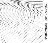 abstract halftone wave dotted...   Shutterstock .eps vector #2042737952