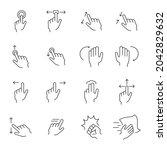 gesture icons set.gesture pack... | Shutterstock .eps vector #2042829632