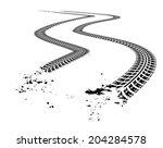 tire tracks.   | Shutterstock . vector #204284578