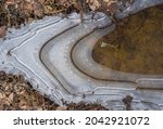 Top View To Ice Formations On...