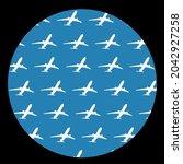 circle airplane shameless... | Shutterstock .eps vector #2042927258
