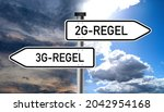 Signpost Sign Saying 2g Rule...