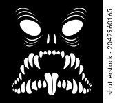 the skeleton of the monster....   Shutterstock .eps vector #2042960165