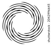 cyclical circle  helix  volute... | Shutterstock .eps vector #2042996645
