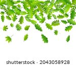 bush leaves abstract vector...   Shutterstock .eps vector #2043058928