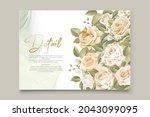 elegant floral invtation card... | Shutterstock .eps vector #2043099095