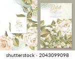 elegant floral invtation card... | Shutterstock .eps vector #2043099098