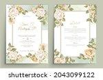 elegant floral invtation card... | Shutterstock .eps vector #2043099122