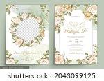 elegant floral invtation card... | Shutterstock .eps vector #2043099125