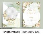 elegant floral invtation card... | Shutterstock .eps vector #2043099128