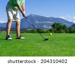 photo of a male golfer about to ... | Shutterstock . vector #204310402