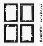 vector grunge border frame set. | Shutterstock .eps vector #2043166928