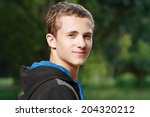 portrait of young smiling teen... | Shutterstock . vector #204320212