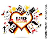 thank you germany   soccer... | Shutterstock .eps vector #204320956
