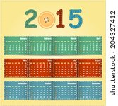 2015 year calendar | Shutterstock . vector #204327412