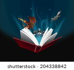 magic book   Shutterstock .eps vector #204338842