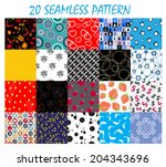 seamless pattern background... | Shutterstock .eps vector #204343696