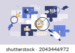 business elements with puzzle...   Shutterstock .eps vector #2043446972