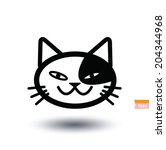 cat icon  vector illustration | Shutterstock .eps vector #204344968