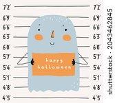 cute halloween vector...   Shutterstock .eps vector #2043462845