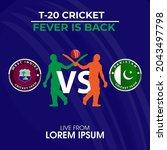 cricket tournament pakistan vs...   Shutterstock .eps vector #2043497798